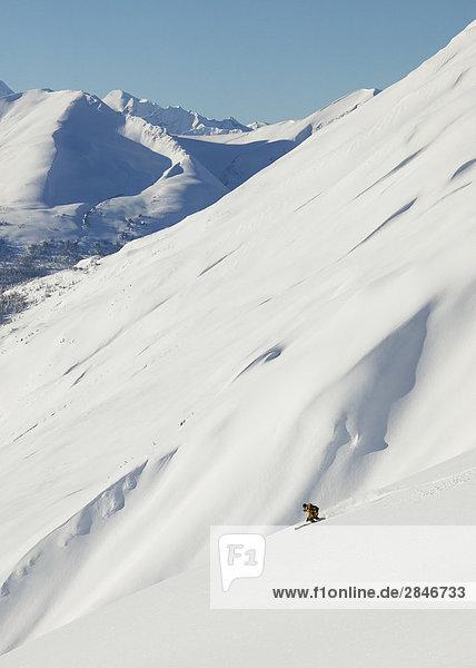 Skifahren in den Skeena Mountains  British Columbia  Kanada.