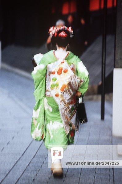 Geisha in der Gion District  Kyoto  Japan