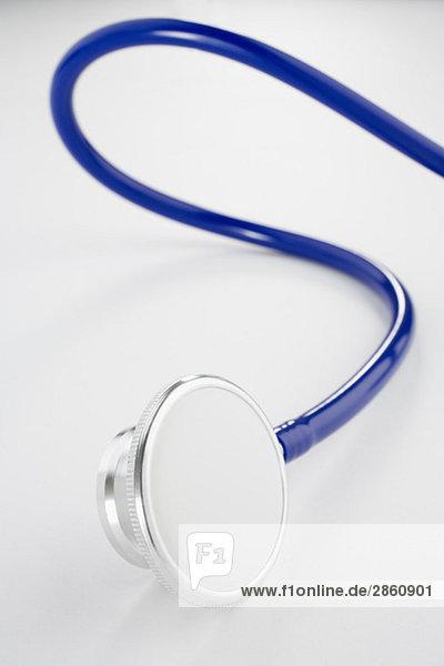 Stethoscope on white background  close-up