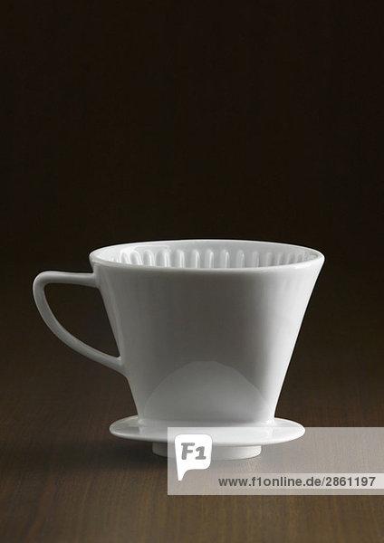 Porzellan-Kaffeefilterhalter  Nahaufnahme Porzellan-Kaffeefilterhalter, Nahaufnahme