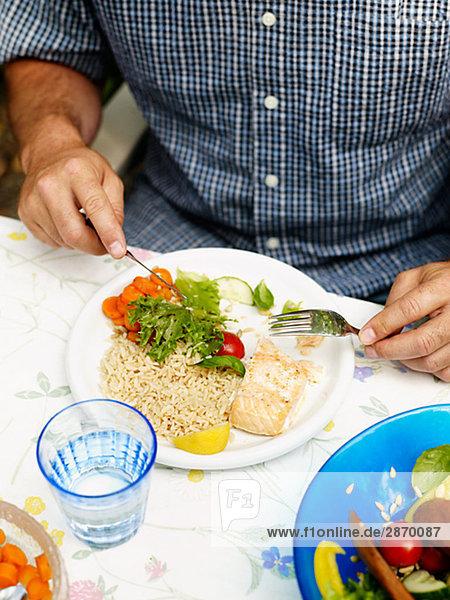 A man having lunch Sweden.