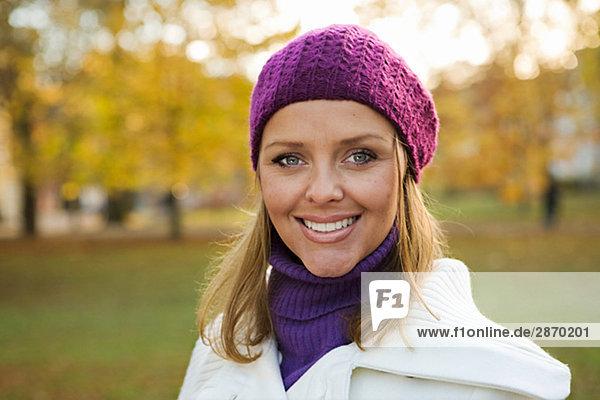 Portrait of a smiling woman Stockholm Sweden.