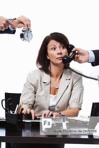 Geschäftsfrau arbeiten Büro