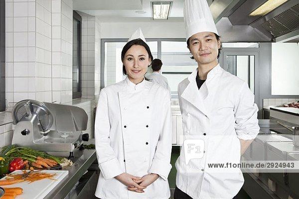 Portrait von zwei Köchen