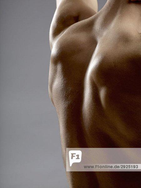 Detail eines Männerrückens Detail eines Männerrückens