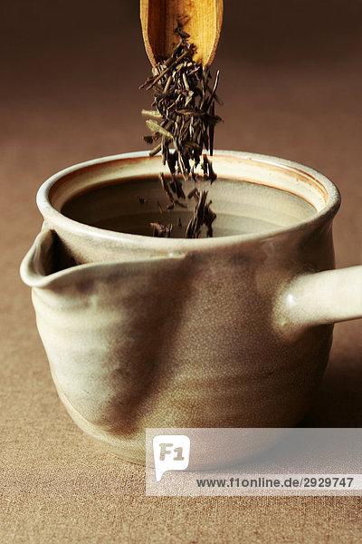Teatime mit japanischen Tee