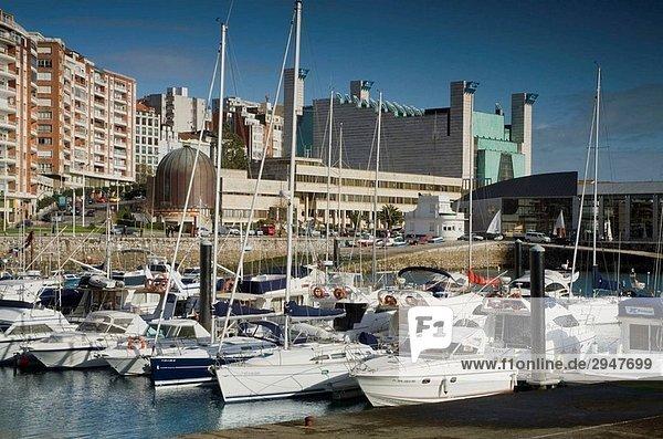 Puerto Chico and Palacio de Festivales  Santander  Cantabria  Spain