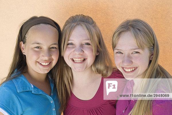 Portrait von drei Mädchen