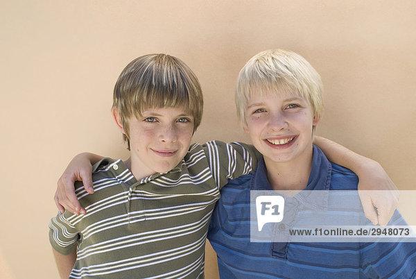 Porträt von zwei jungen