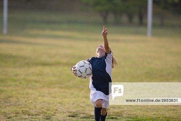 Fußball-Spieler Jubel und schreien