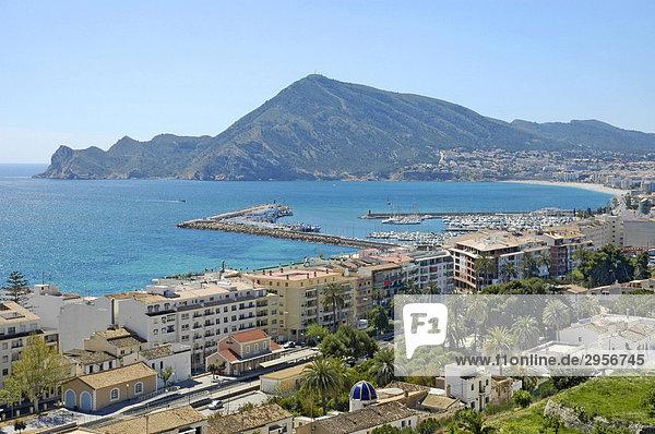 Blick von Altea zum Hafen und L`Albir   Costa Blanca  Spanien