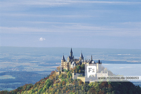 Burg Hohenzollern  Baden-Württemberg  Deutschland