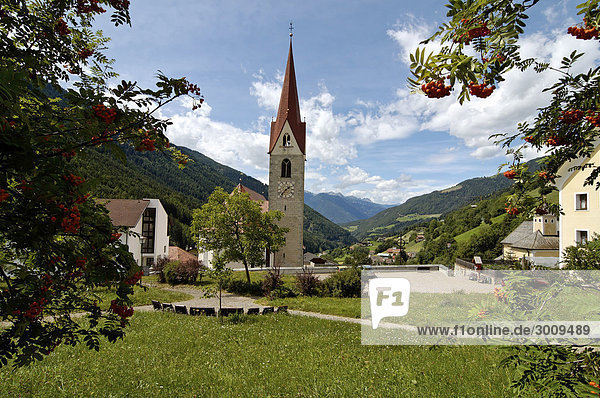 Luesen Luson in The Val di Luson Luesener Tal under the Plose near Brixen Southern Tyrol Alto Adige Italy church St. George