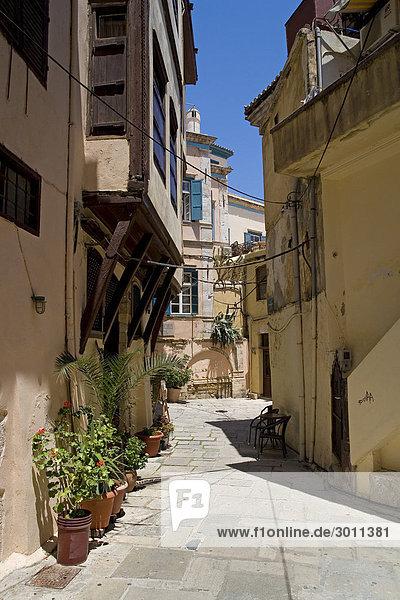 Old lane in Chania  Crete  Greece  Europe