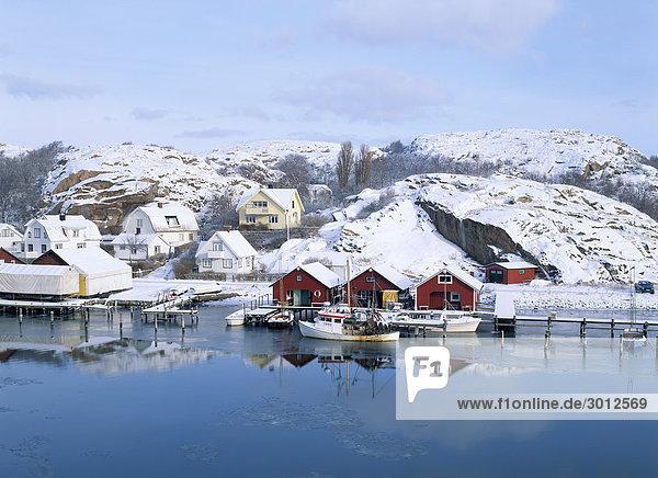Wasser Gebäude schwedisch Westküste