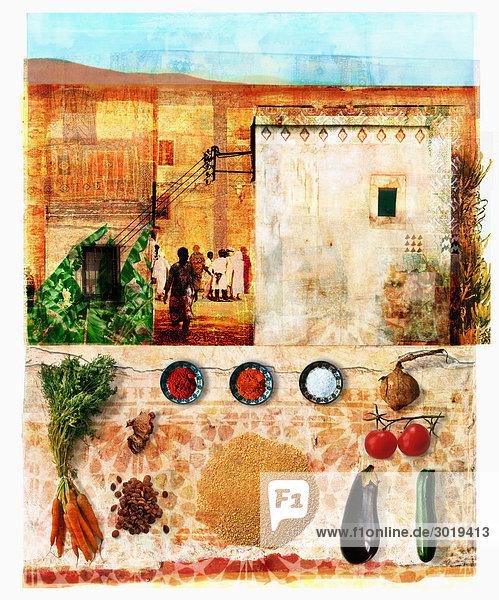 Marokkanische Kultur und Gewürze