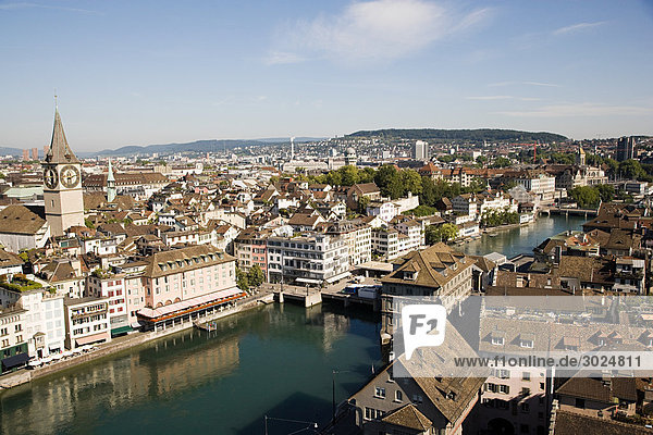 Elevated view of zurich