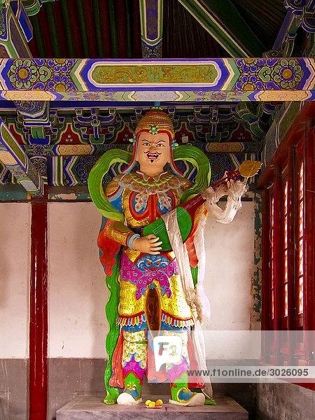 Headline: Statue inside of the Miaoying Temple  Beijing  China