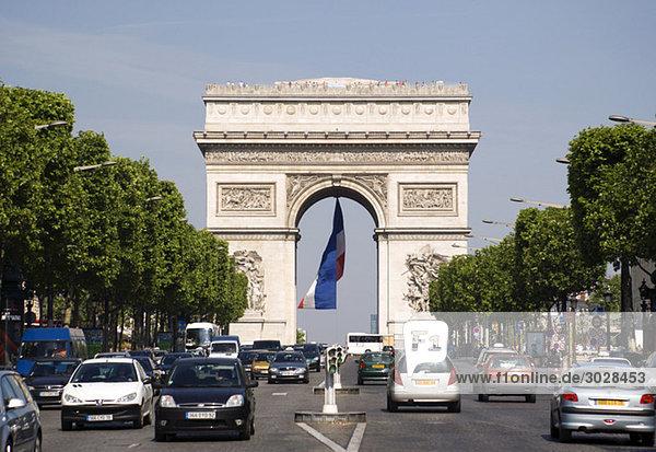 France  Paris  Arc de Triomphe  Champs Elysees