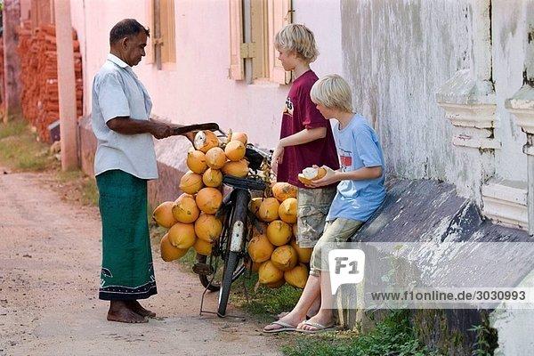 Coconut seller  Galle  Sri Lanka