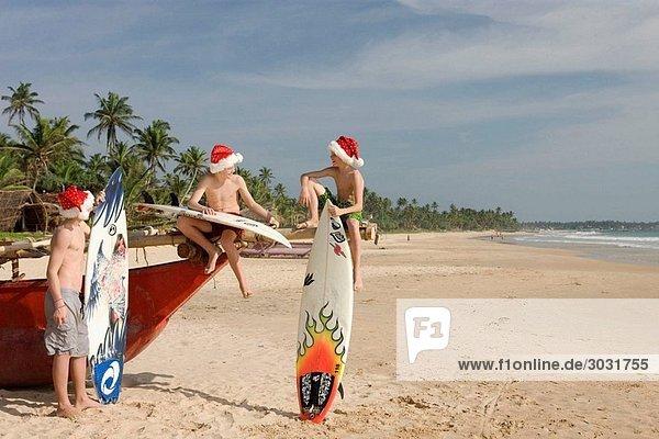 Surfers in Hikkaduwa  Sri Lanka