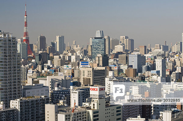 Japan  Tokio  Stadtbild  Tokio Tower
