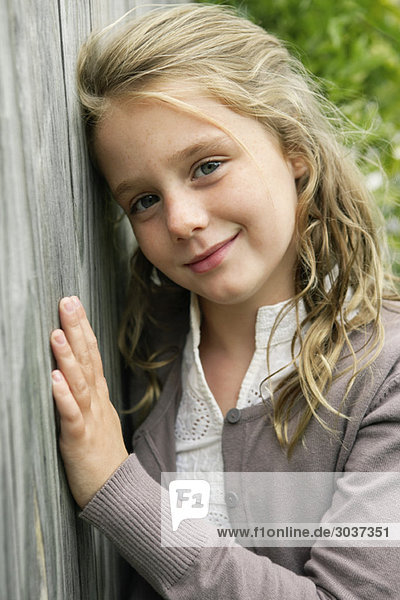 Porträt eines lächelnden Mädchens