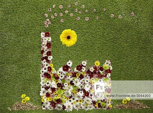Eine Fabrik aus Blumen Eine Fabrik aus Blumen