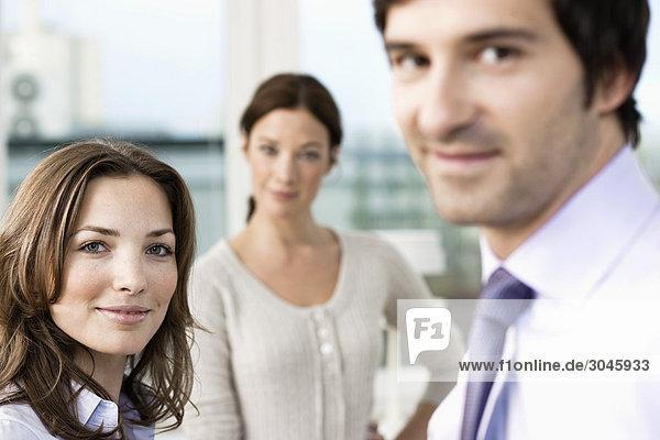 Porträt Gruppe von Geschäftsleuten