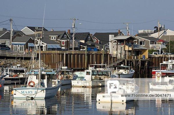 USA  Maine  Ogunquit  Perkins Cove Fisch pier