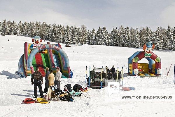 Italy  Aosta Valley  Torgnon  playground