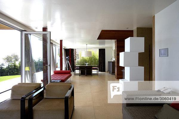 Zimmer Ansicht Stapel Polsterung Wohnzimmer Möbel