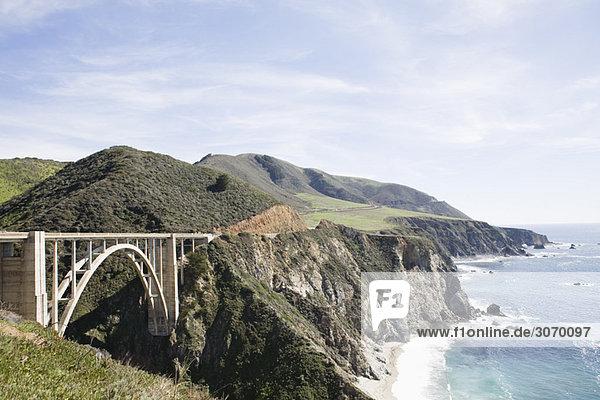 Bixby Bridge  Big Sur  Kalifornien  USA