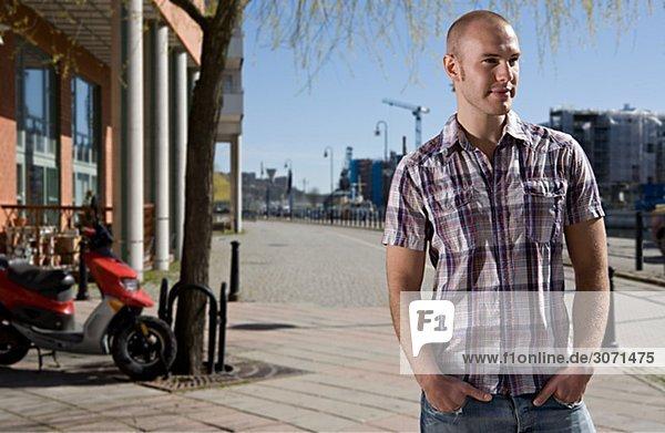 Portrait of a Scandinavian young man Sweden