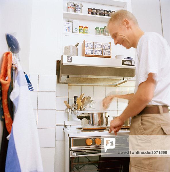 A man in the kitchen Sweden.