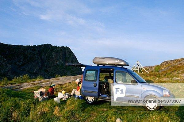 A picnic Lofoten islands Norway.