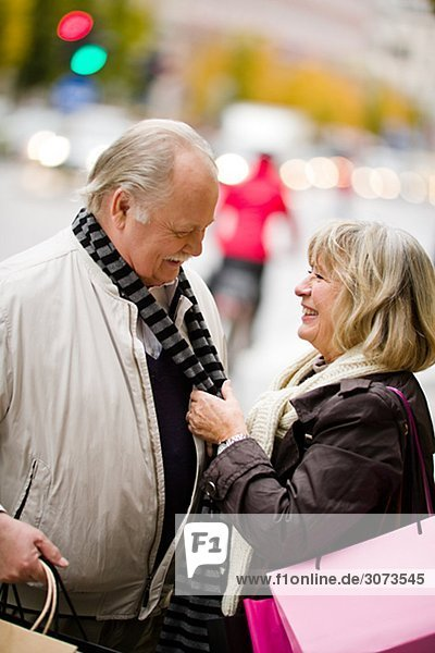 A smiling senior couple Stockholm Sweden.