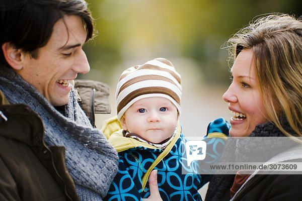A smiling family Sweden.