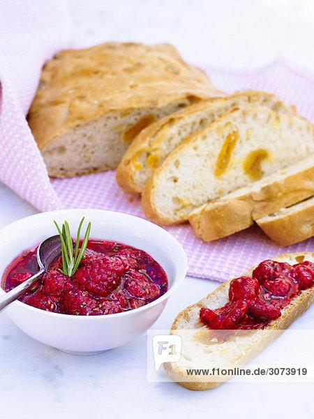 Brot mit Himbeeren Schweden.