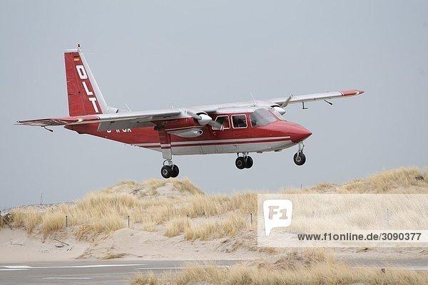 Flugzeug  Helgoland  Schleswig-Holstein  Deutschland