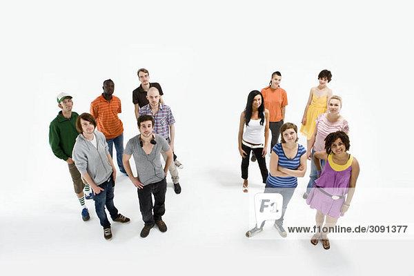 Porträt einer Gruppe von Männern und Frauen