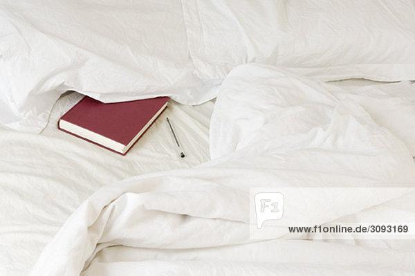 Tagebuch unter Kissen verstaut