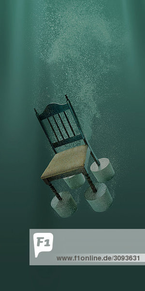 Stuhl sinken im Wasser