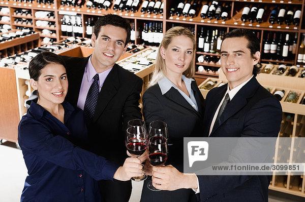 Wein Wirtschaftsperson Business