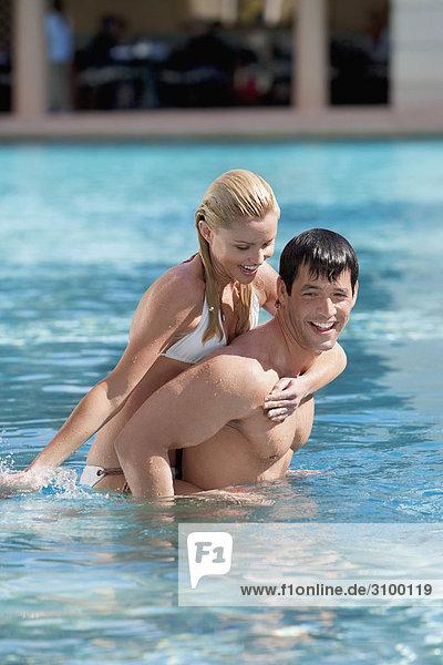 Vereinigte Staaten von Amerika USA Schwimmbad Coral Gables Florida Spaß