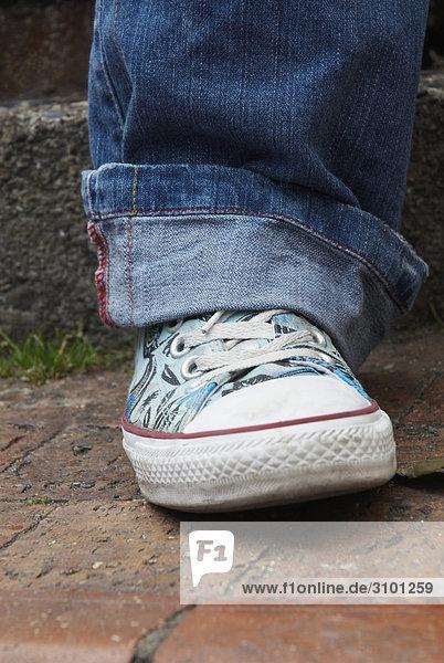 Nahaufnahme eines menschlichen Fußes Nahaufnahme eines menschlichen Fußes