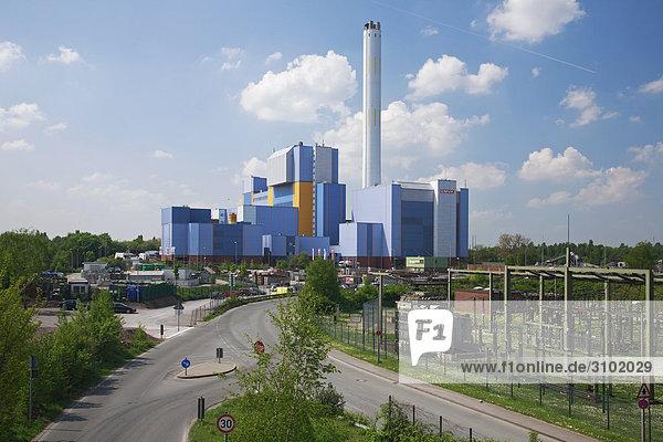 Müllverbrennungsanlage  Oberhausen  Nordrhein-Westfalen  Deutschland