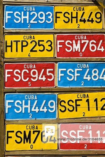 Cuba  Trinidad  Auto Platten