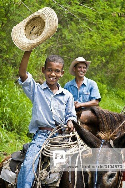 Kuba  El Cobre  Porträt von farmer