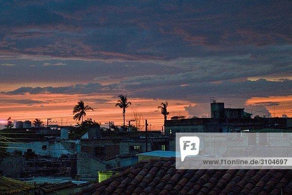 Cuba  Camaguey at sunset